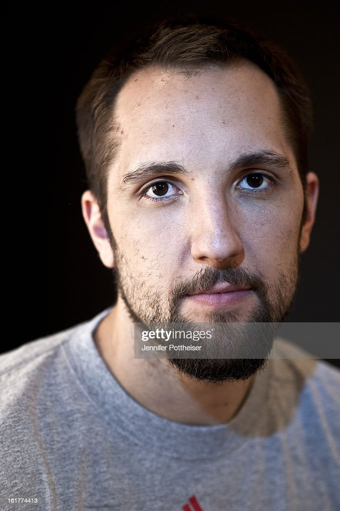 Ryan Anderson of the New Orleans Hornets poses for portraits during the NBAE Circuit as part of 2013 All-Star Weekend at the Hilton Americas Hotel on February 15, 2013 in Houston, Texas.