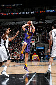 Ryan Anderson of the New Orleans Pelicans shoots the ball against the San Antonio Spurs on February 3 2016 at the ATT Center in San Antonio Texas...