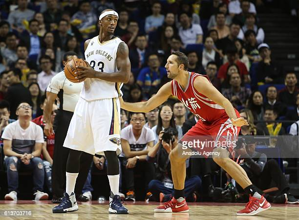 Ryan Anderson#3 of Houston Rockets in action during the 201617 NBA Global Game at the MercedesBenz Arena in Shanghai China on October 09 2016