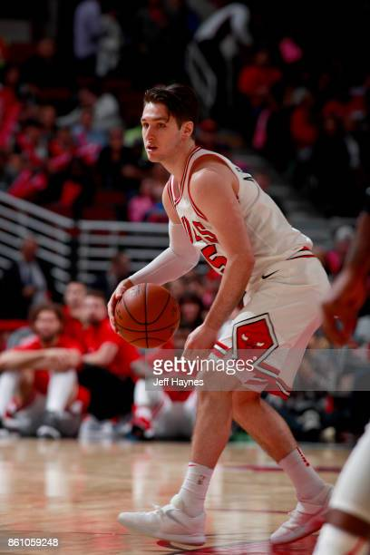 Ryan Arcidiacono of the Chicago Bulls handles the ball against the Toronto Raptors on October 13 2017 at the United Center in Chicago Illinois NOTE...