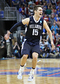 Ryan Arcidiacono of the Villanova Wildcats celebrates defeating the Kansas Jayhawks 6459 during the 2016 NCAA Men's Basketball Tournament South...