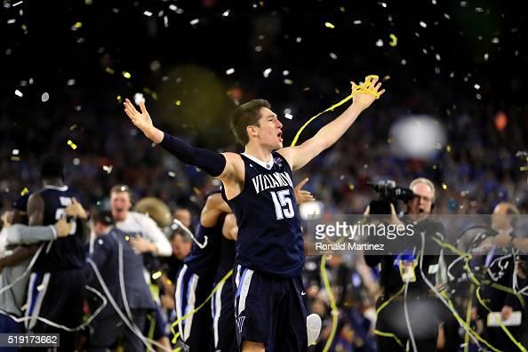 Ryan Arcidiacono of the Villanova Wildcats celebrates defeating the North Carolina Tar Heels 7774 to win the 2016 NCAA Men's Final Four National...