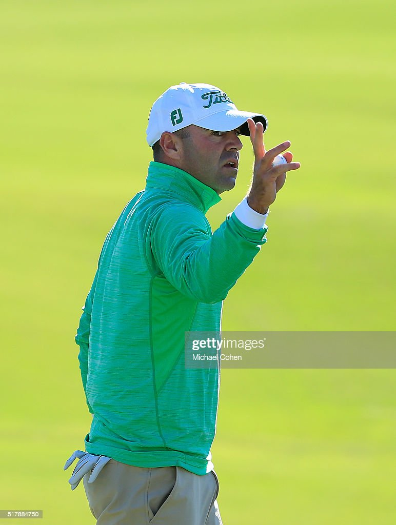 Ryan Armour acknowledges the gallery during the final round of the Chitimacha Louisiana Open presented by NACHER held at Le Triomphe Golf and Country...