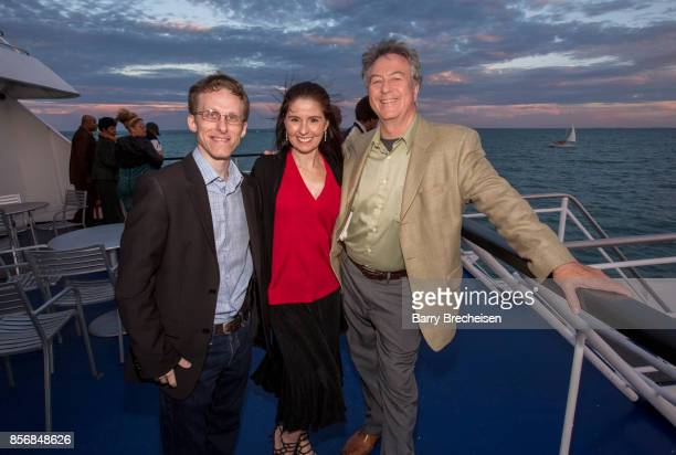 Ryan Atkins Brenda Hahn and Walt Sloan at the 'Conrad' series party on the Spirit of Chicago boat event showcasing the new crime drama that focuses...
