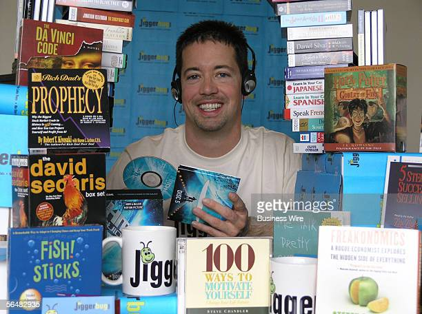 Ryan Azevedo CEO of online audio book rental company Jiggerbugcom listens to the newest Rich Dad Poor Dad title which made their Top Rental Request...