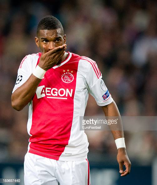 Ryan Babel of AFC Ajax in action during the UEFA Champions League group stage match between AFC Ajax and Real Madrid CF at the Amsterdam ArenA on...