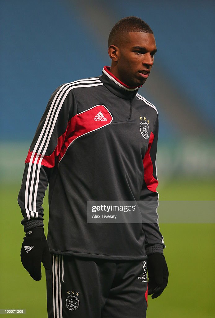 Ryan Babel of Ajax Amsterdam looks on during a training session at Etihad Stadium on November 5, 2012 in Manchester, England.