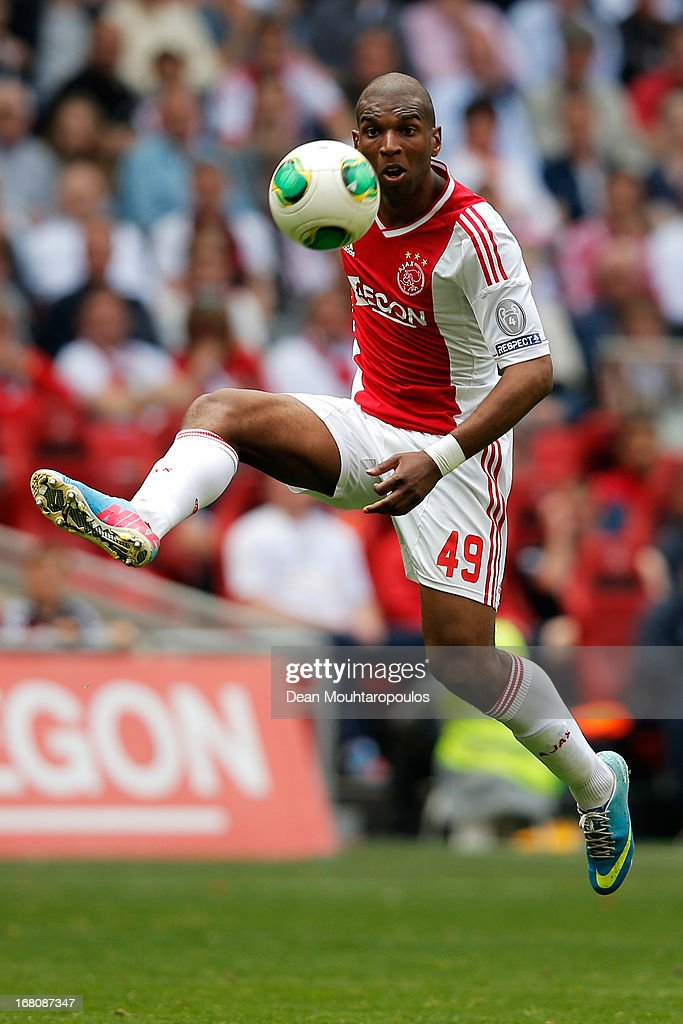 Ryan Babel of Ajax in action during the Dutch Eredivisie match between Ajax and Willem II Tilburg at Amsterdam Arena on May 5 2013 in Amsterdam...
