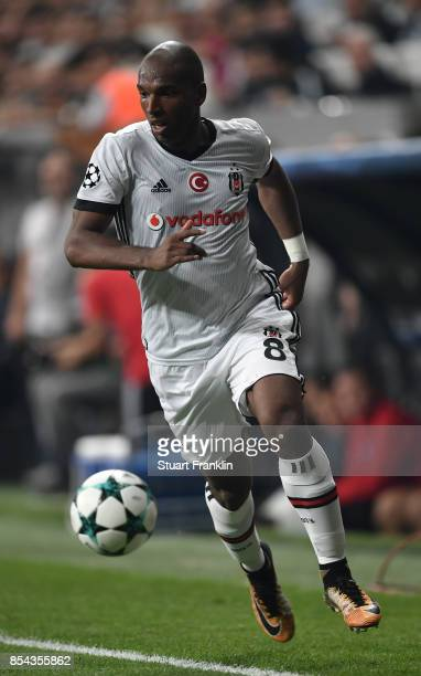 Ryan Babel of Besiktas in action during the UEFA Champions League second leg group G match between Besiktas and RB Leipzig at the Vodafone Park on...