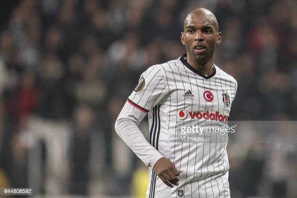 Ryan Babel of Besiktas JKduring the UEFA Europa League round of 16 match between Besiktas JK and Hapoel Beer Sheva on February 23 2017 at the...