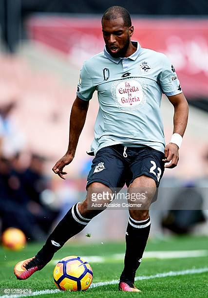 Ryan Babel of Deportivo La Coruna in action during the La Liga match between Granada CF and Deportivo La Coruna at Nuevo los Carmenes Stadium on...