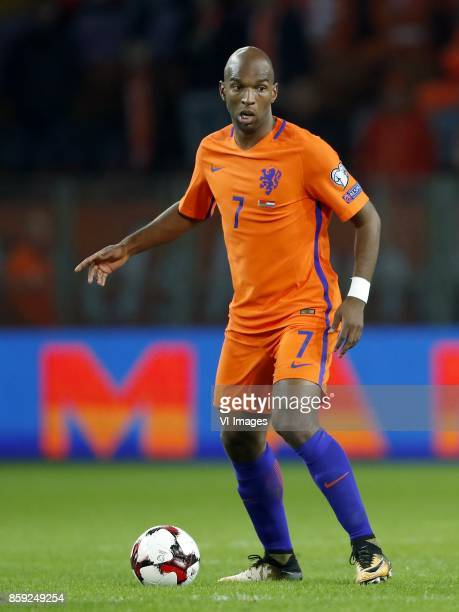 Ryan Babel of Holland during the FIFA World Cup 2018 qualifying match between Belarus and Netherlands on October 07 2017 at Borisov Arena in Borisov...