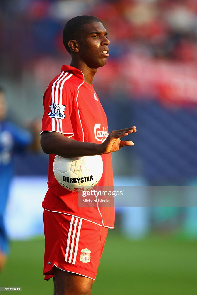 Ryan Babel of Liverpool during the Port of Rotterdam Tournament match between Liverpool and Shanghai Shenhua FC at the De Kuip Stadium on August...