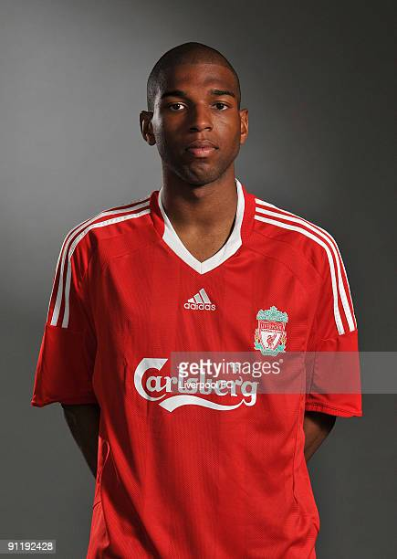 Ryan Babel of Liverpool FC poses during a Liverpool FC 2009/2010 season photocall in Liverpool England