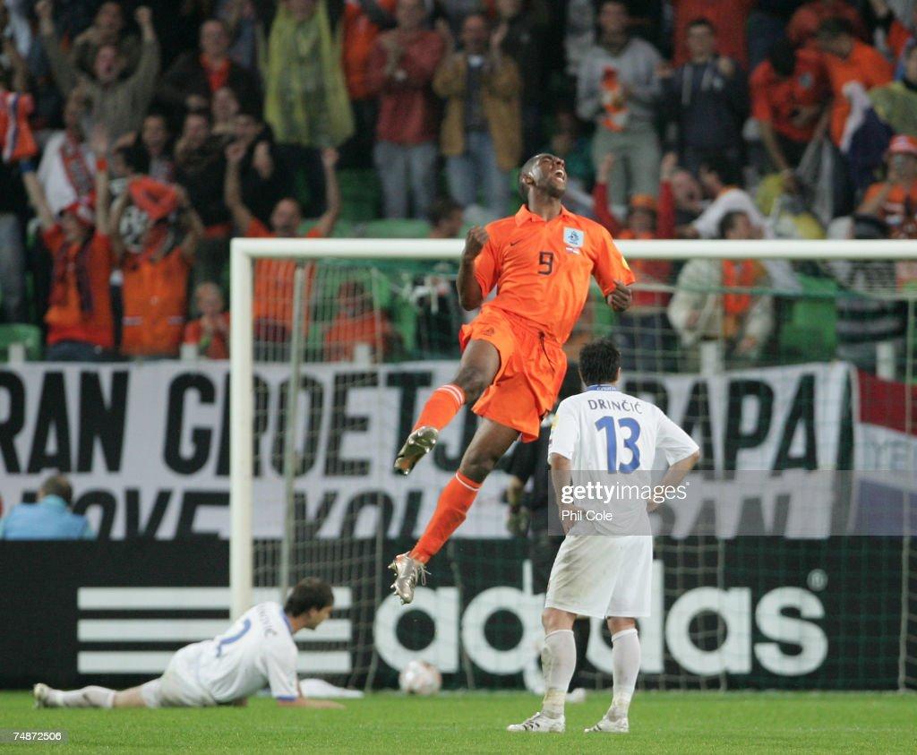 Ryan Babel of the Netherlands celebrates scoring during the UEFA European Under21 Championship Final match between the Netherlands U21 and Serbia U21...
