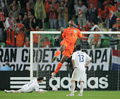 Ryan Babel of the Netherlands celebrates scoring during the UEFA European Under21 Championship Final match between the Netherlands U21 and Serbia U21...