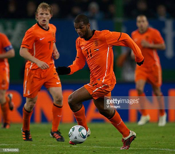 Ryan Babel of the Netherlands in action during the international friendly match between Germany and Netherlands at the Imtech Arena on November 15...