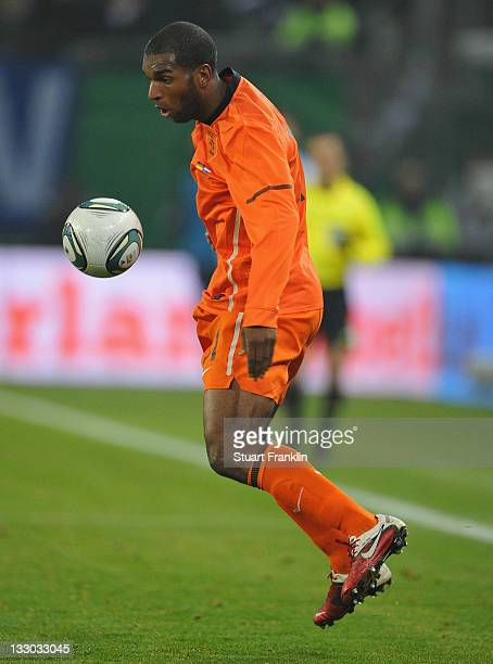 Ryan Babel of The Netherlands in action during the international Friendly match between Germany and Netherlands at Imtech Arena on November 15 2011...