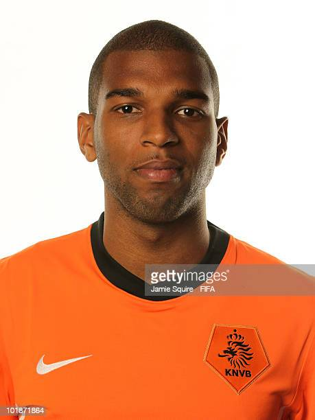 Ryan Babel of The Netherlands poses during the official FIFA World Cup 2010 portrait session on June 7 2010 in Johannesburg South Africa