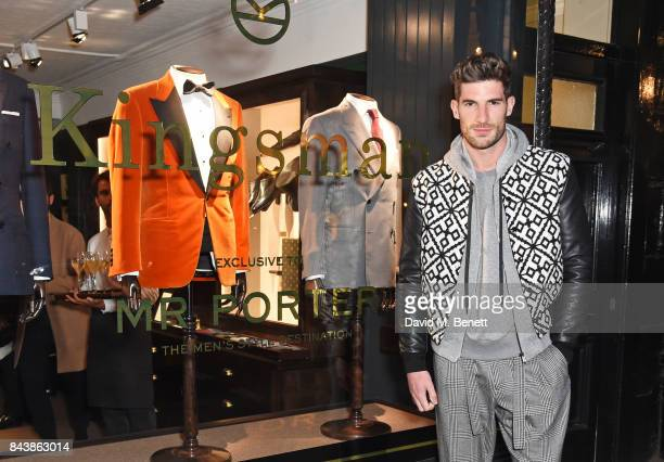Ryan Barrett attends the launch of the 'Kingsman' shop on St James's Street in partnership with MR PORTER MARV Twentieth Century Fox in celebration...