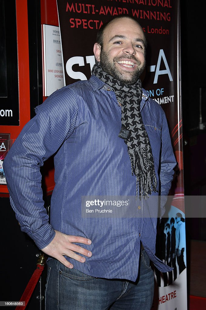 Ryan Beange of 'Rayguns Look Real Enough' attends the press night for Siro-A show, described as Japan's version of the Blue Man Group at Leicester Square Theatre on February 4, 2013 in London, England.