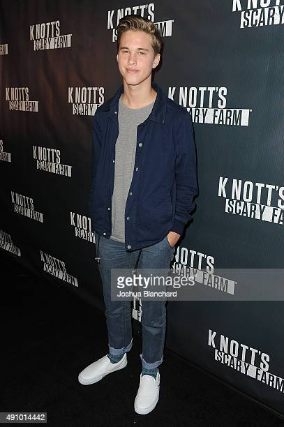 Ryan Beatty arrives at Knott's Scary Farm on October 1 2015 in Buena Park California