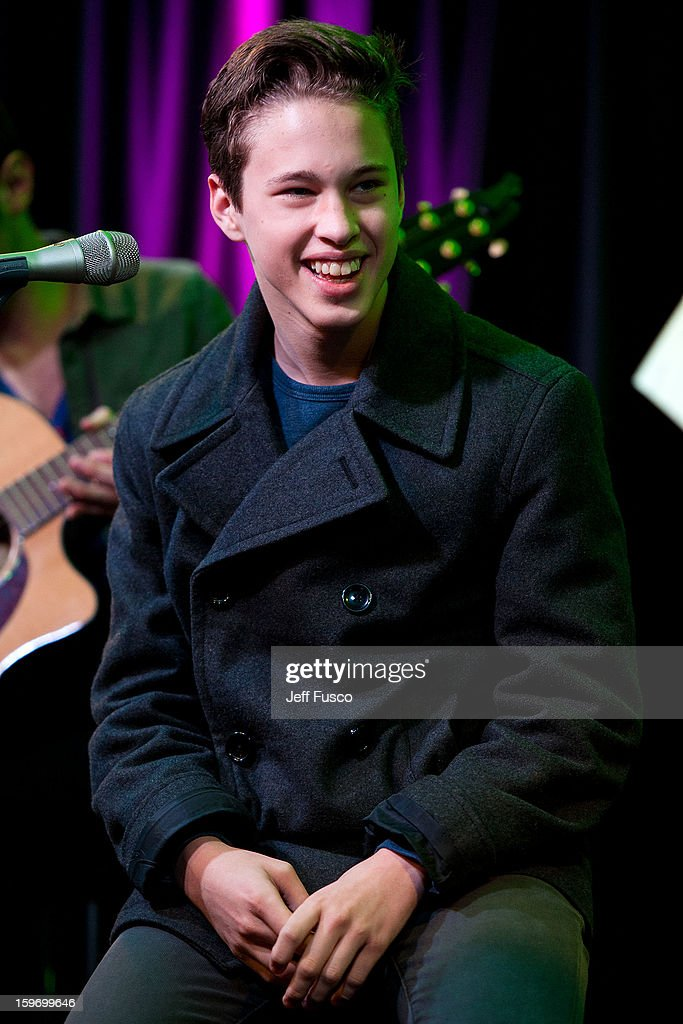 <a gi-track='captionPersonalityLinkClicked' href=/galleries/search?phrase=Ryan+Beatty&family=editorial&specificpeople=8710529 ng-click='$event.stopPropagation()'>Ryan Beatty</a> performs at the Q102 iHeart Performance Theater on January 18, 2013 in Bala Cynwyd, Pennsylvania.