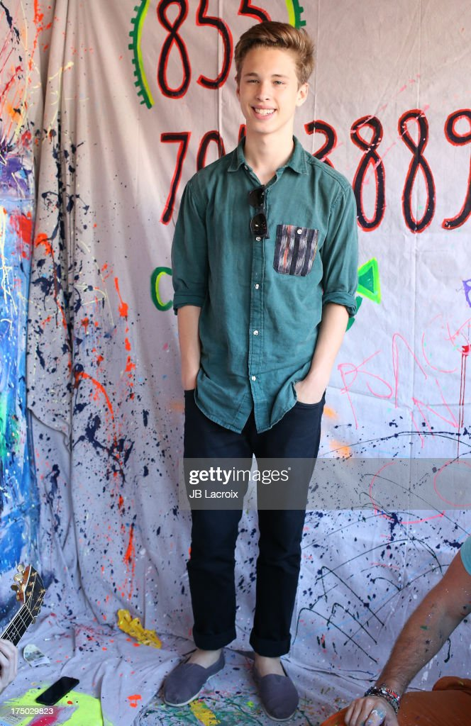 Pop Sensation Ryan Beatty  Visits Local LA Artist At TOMS Store In Venice