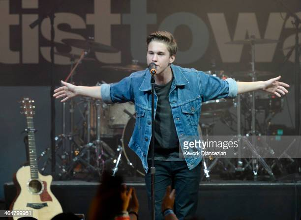 Ryan Beatty performs during MTV's 2014 'Artist To Watch' kickoff event at the House Blues January 23 in West Hollywood California