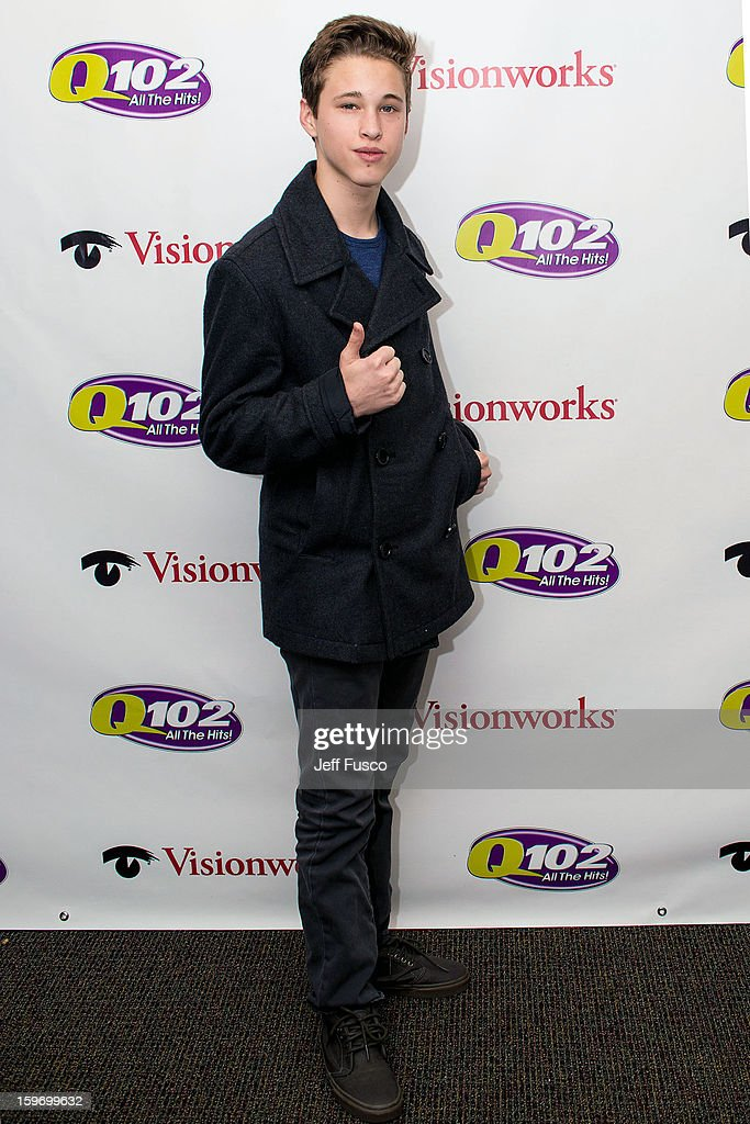 <a gi-track='captionPersonalityLinkClicked' href=/galleries/search?phrase=Ryan+Beatty&family=editorial&specificpeople=8710529 ng-click='$event.stopPropagation()'>Ryan Beatty</a> poses at the Q102 iHeart Performance Theater on January 18, 2013 in Bala Cynwyd, Pennsylvania.