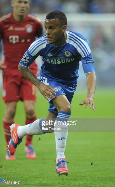 Ryan Bertrand in action for Chelsea during the UEFA Champions League Final between FC Bayern Munich and Chelsea at the Fussball Arena Munich on May...