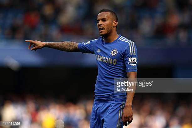 Ryan Bertrand of Chelsea in action during the Barclays Premier League match between Chelsea and Blackburn Rovers at Stamford Bridge on May 13 2012 in...