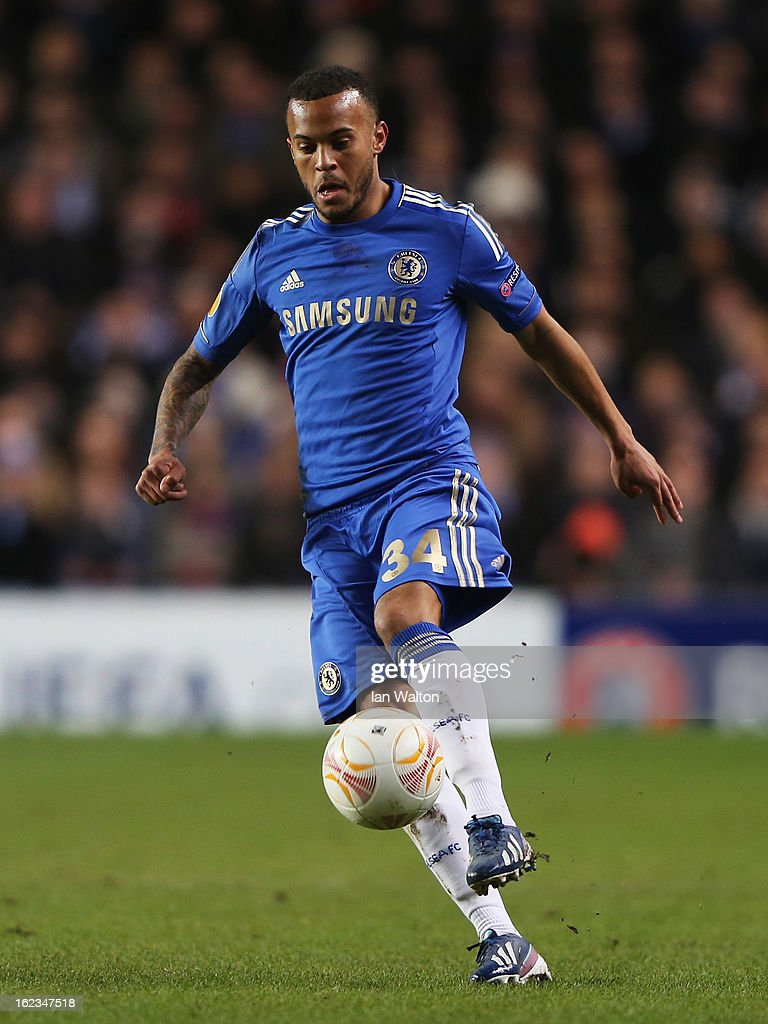 Ryan Bertrand of Chelsea in action during the UEFA Europa League Round of 32 second leg match between Chelsea and Sparta Praha at Stamford Bridge on February 21, 2013 in London, England.