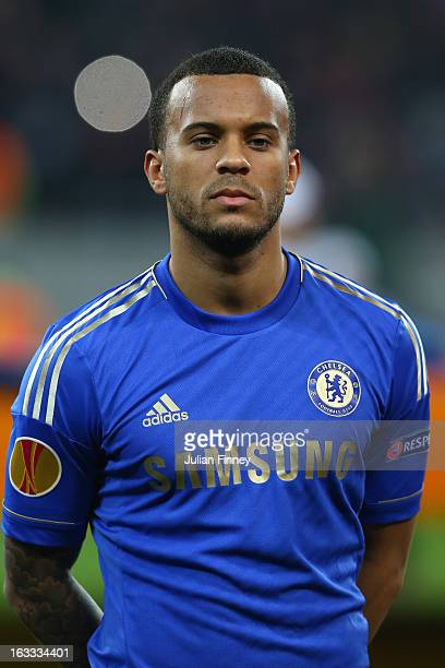 Ryan Bertrand of Chelsea looks on during the UEFA Europa League Round of 16 match between FC Steaua Bucuresti and Chelsea at the National Arena on...