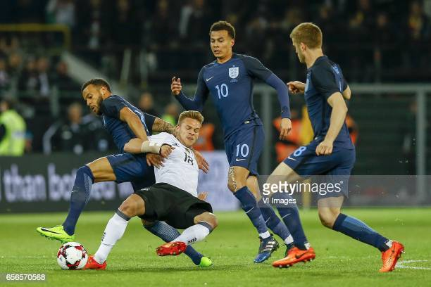 Ryan Bertrand of England Joshua Kimmich of Germany Dele Alli of Englandduring the friendly match between Germany and England on March 22 2017 at the...