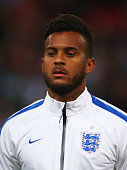 Ryan Bertrand of England looks on during the UEFA EURO 2016 Group E qualifying match between England and Estonia at Wembley on October 9 2015 in...