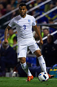 Ryan Bertrand of England runs with the ball during the international friendly match between Spain and England at Jose Rico Perez Stadium on November...