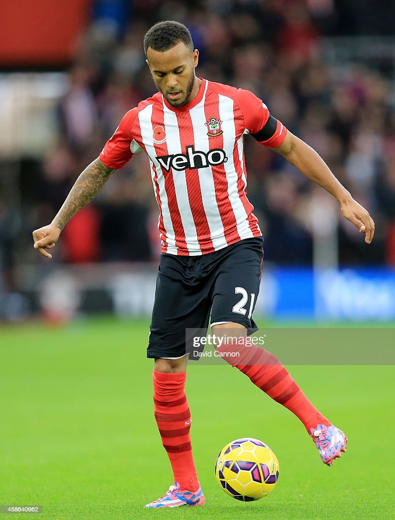 Ryan Bertrand of Southampton during the Barclays Premier League match between Southampton and Leicester City at St Mary's Stadium on November 8 2014...