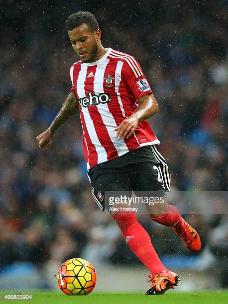 Ryan Bertrand of Southampton during the Barclays Premier League match between Manchester City and Southampton at Etihad Stadium on November 28 2015...