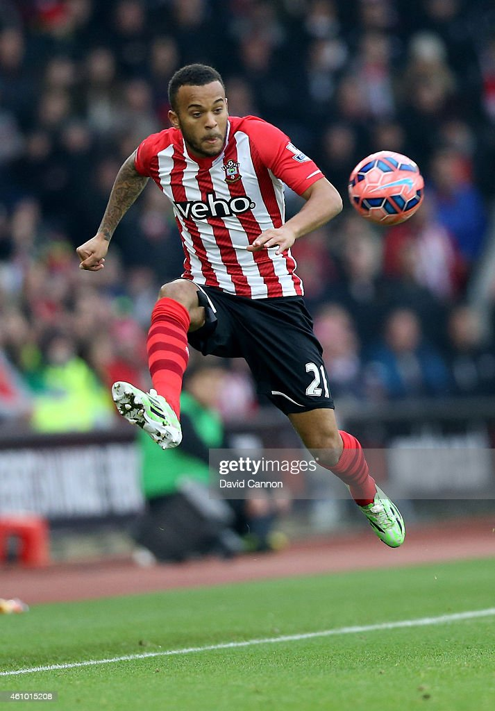 Ryan Bertrand of Southampton during the FA Cup Third Round match between Southampton and Ipswich Town at St Mary's Stadium on January 4 2015 in...