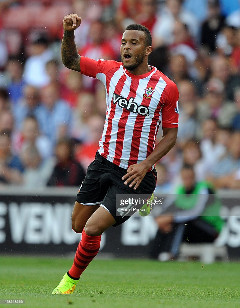 Ryan Bertrand of Southampton during the pre season friendly match between Southampton and Bayer Leverkusen at St Mary's Stadium on August 9 2014 in...