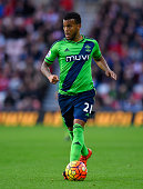 Ryan Bertrand of Southampton in action during the Barclays Premier League match between Sunderland and Southampton at Stadium of Light on November 7...
