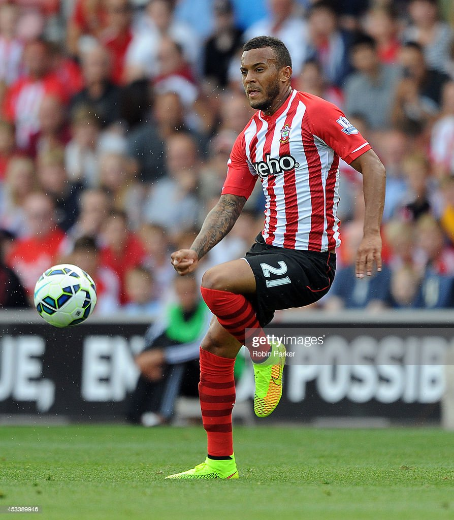 Ryan Bertrand of Southampton in action during the pre season friendly match between Southampton and Bayer Leverkusen at St Mary's Stadium on August 9...