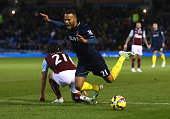 Ryan Bertrand of Southampton is brought down in the penalty area by George Boyd of Burnley leading to a penalty during the Barclays Premier League...
