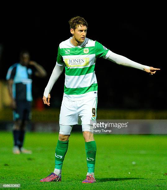 Ryan Bird of Yeovil Town during the Sky Bet League Two match between Yeovil Town and Wycombe Wanderers at Huish Park on November 24 2015 in Yeovil...