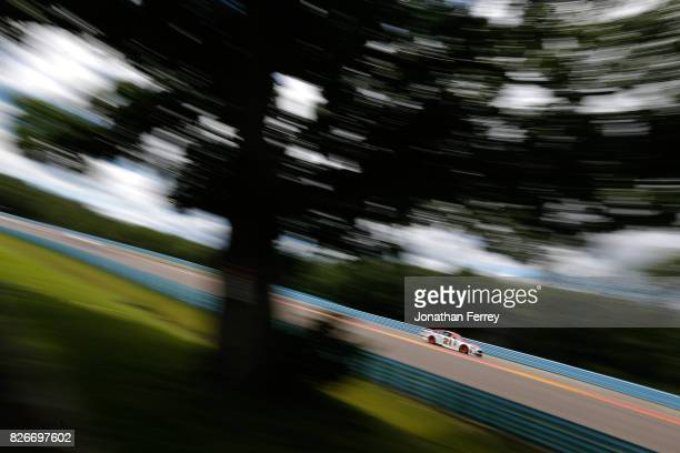 Ryan Blaney driver of the Motorcraft/Quick Lane Tire Auto Center Ford drives during practice for the Monster Energy NASCAR Cup Series I Love NY 355...