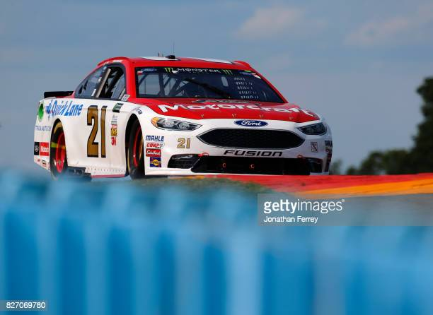 Ryan Blaney driver of the Motorcraft/Quick Lane Tire Auto Center Ford drives during the Monster Energy NASCAR Cup Series I Love NY 355 at The Glen at...