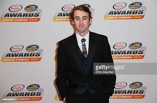Ryan Blaney poses on the red carpet during the NASCAR Camping World Truck Series and XFINITY Series Banquet at the Westin Diplomat on November 23...