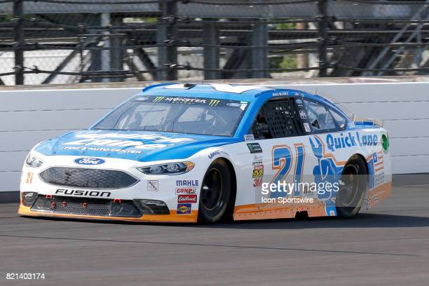 Ryan Blaney Wood Brothers Ford Fusion during the NASCAR Monster Energy Cup Series Brantley Gilbert Big Machine Brickyard 400 July 23 at the...