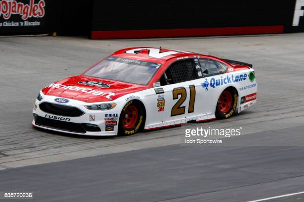 Ryan Blaney Wood Brothers Motorcraft/Quick Lane Ford Fusion during practice for the Bass Pro Shop NRA 500 at Bristol Motor Speedway on August 18 2017...